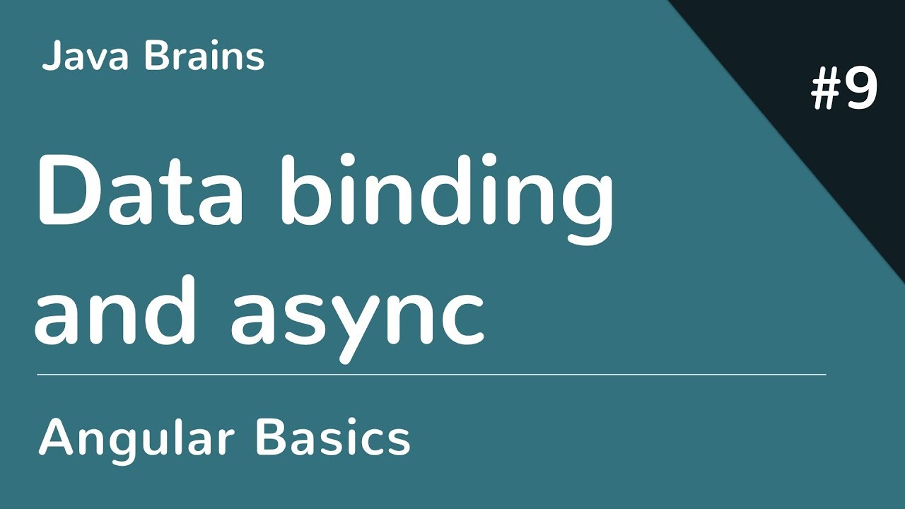 Angular 6 Basics 9 - Data binding and async