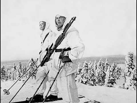 US Marines Fight  Norwegian White Death Ski Troops