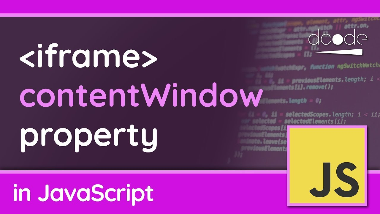 Accessing an iframe document (contentWindow) - JavaScript Tutorial