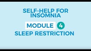 Self-help for insomnia 4: Stimulus control