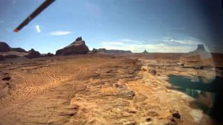 Helicopter Tour, Tower Butte Landing Tour Lake Powell 2014