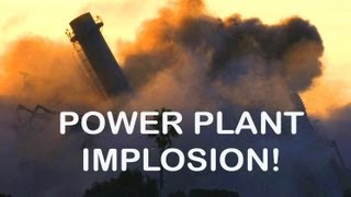 Implosion Power Plant Controlled Disaster Awesome Demolition Explosions!