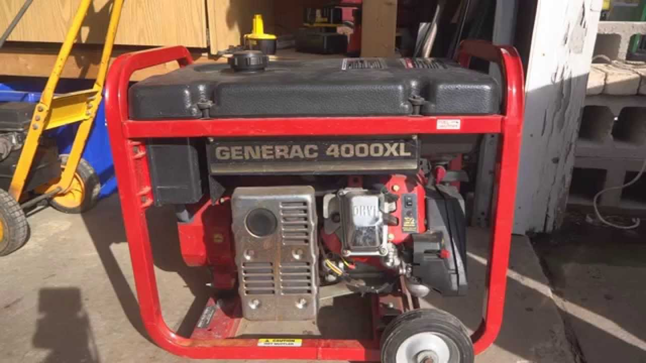 medium resolution of generac 4000xl generator solution to common problem won t stay running youtube