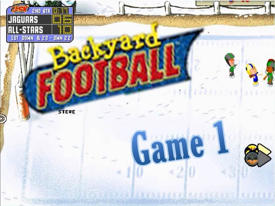 backyard football 1999 pc game 1 let the games begin once again