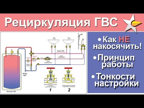 Как сделать рециркуляцию горячей воды в бойлер косвенного нагрева