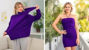 여성들을 위한 간단 패션 꿀팁 || 123 GO!의 놀라운 DIY 아이디어
