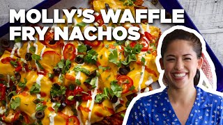 Sweet Potato Waffle Fry Nachos with Molly Yeh | Food Network