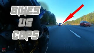 BIKES VS COPS - BIKERS GET CAUGHT BY POLICE (CRASHED!) #48 - FNF