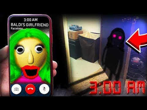 SUMMONING BALDI BASIC'S GIRLFRIEND IN REAL LIFE AT 3:00AM **I SAW HER!!**