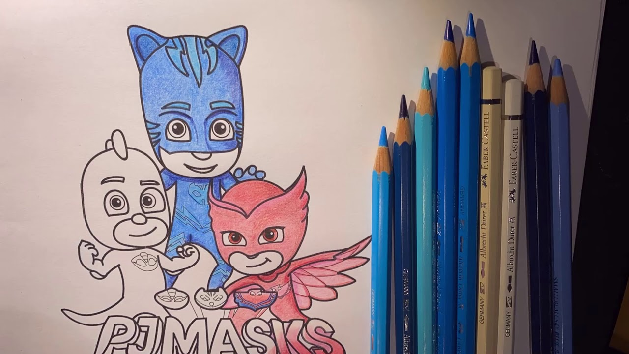 pj masks coloring page  youtube