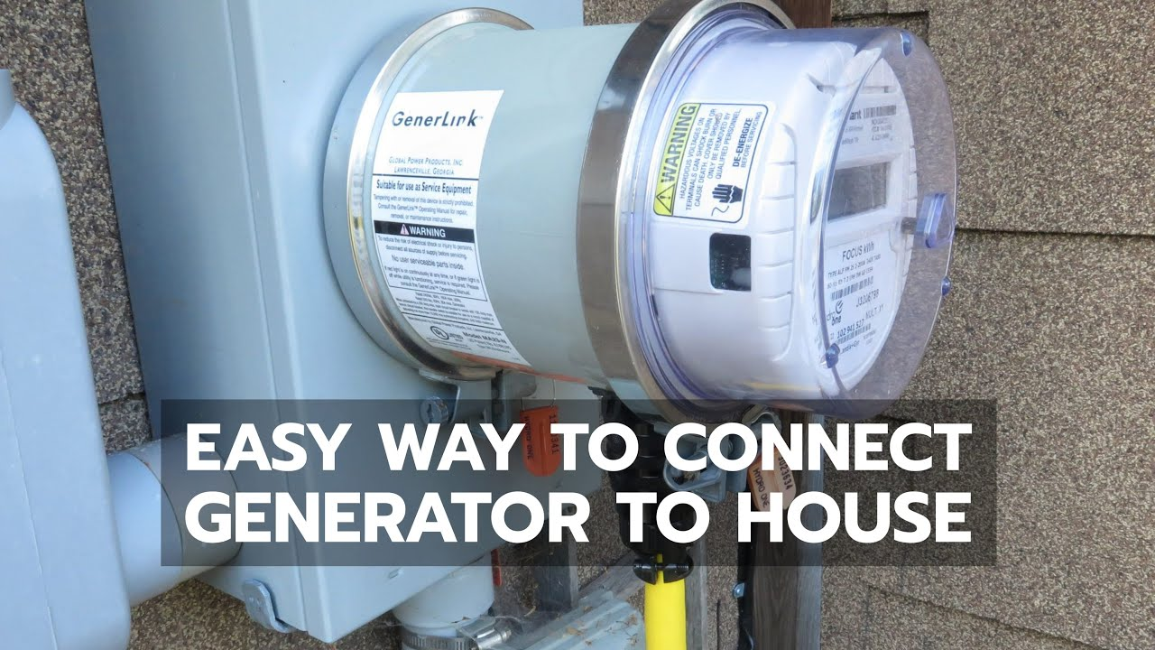 BACKUP POWER: Easiest Way to Connect Generator to House - YouTube