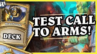 TEST CALL TO ARMS! - AGGRO PALADIN - Hearthstone Deck Wild (Witchwood)