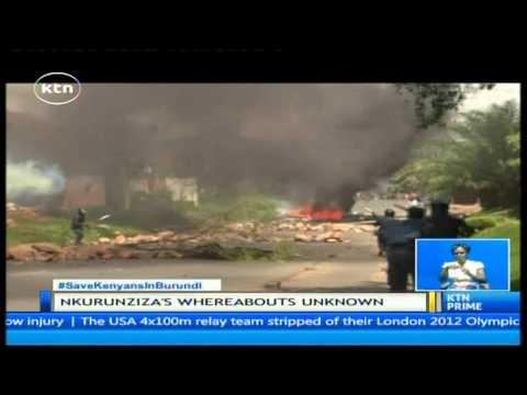 Heavy gunfire and explosions rock burundi's capital Bujumbura