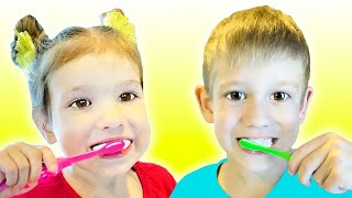 Brush Your Teeth Song Nursery Rhymes for Kids by Tim and Essy