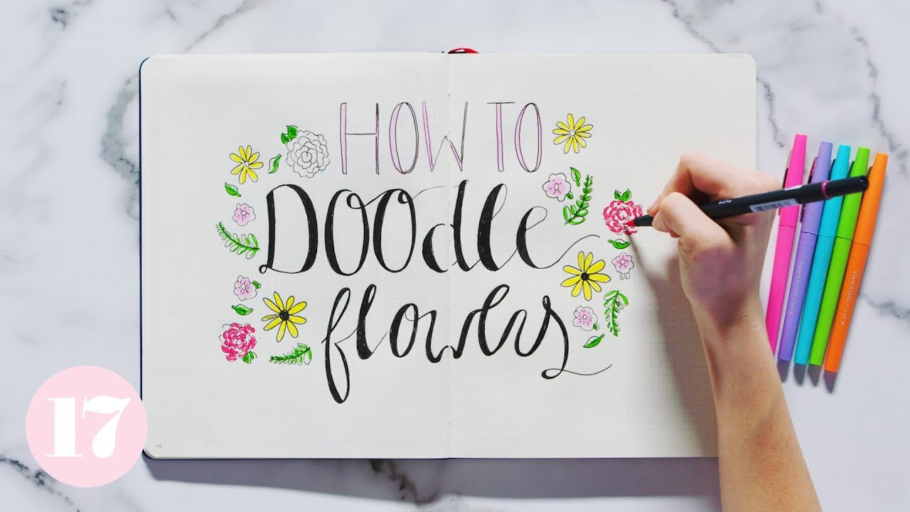 How To Doodle Flowers In Your Bullet Journal | Plan With Me