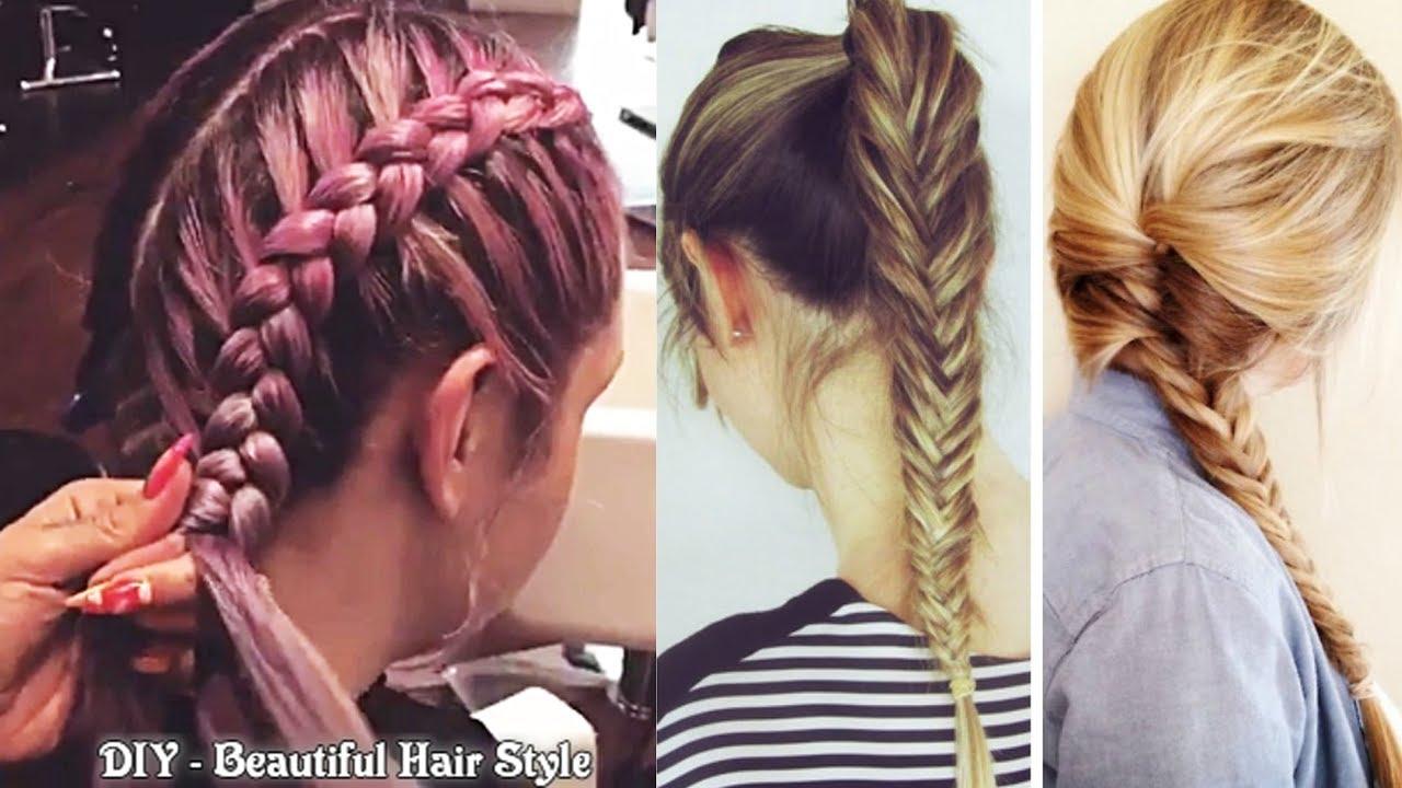 best diy hairstyles tutorial 2017 - easy hairstyles step by step #5