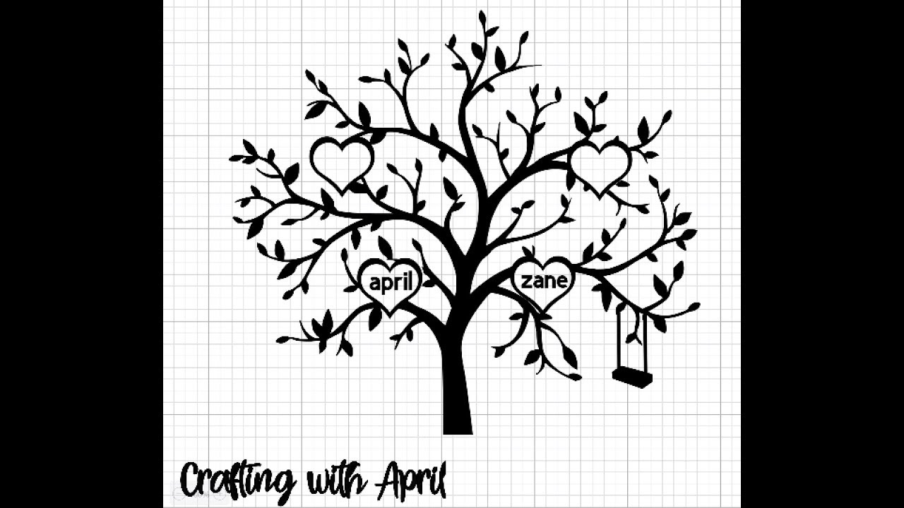 Crafting With April Creating A Family Tree For Vinyl Cut Out Youtube