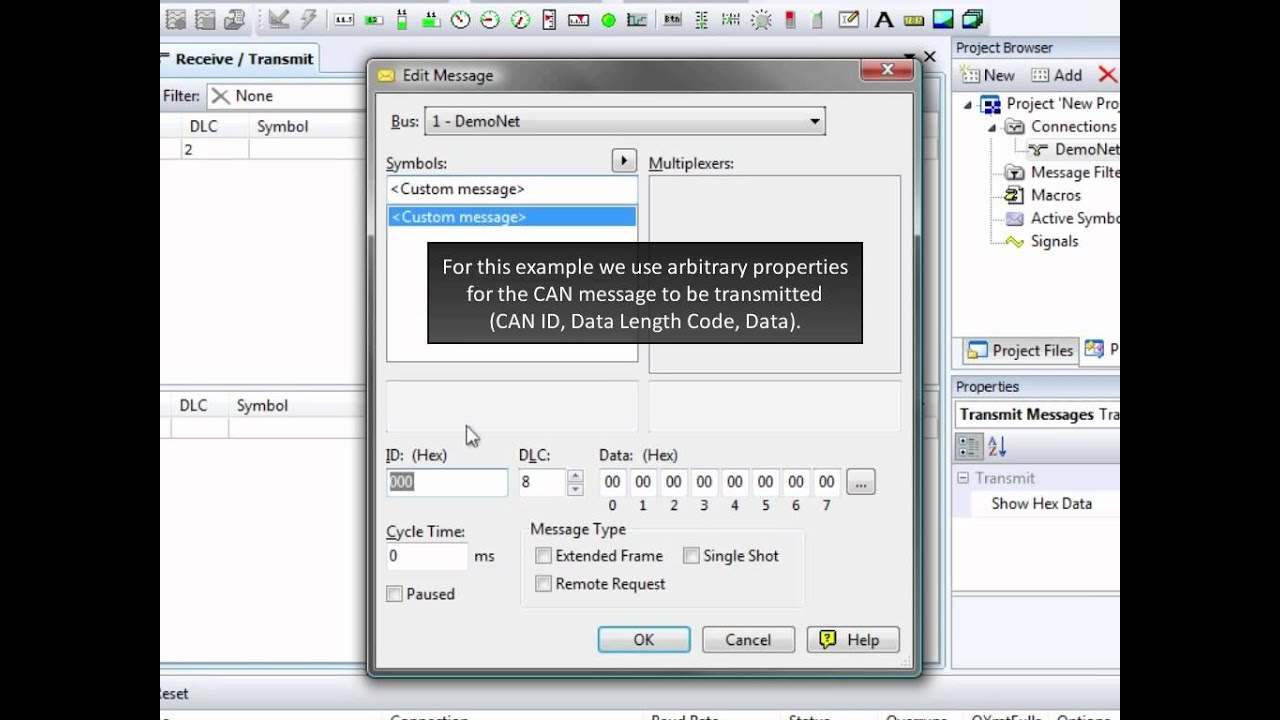 PCAN-Explorer 5 - CAN Connection 3: Receive and Transmit CAN Messages