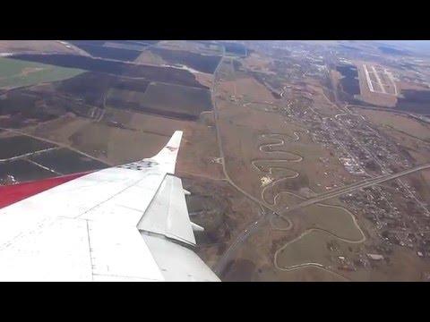 Взлет из Минеральных вод Ту 204 Red Wings