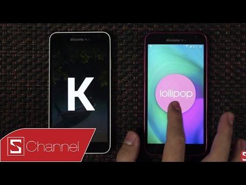 Schannel - Galaxy J Android 5.0 vs Galaxy J Android 4.4 Kitkat : Những điểm khác biệt
