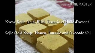 DIY:Kojic acid soap: kojic Acid powder,  Honey, Tumeric and Avocado Oil