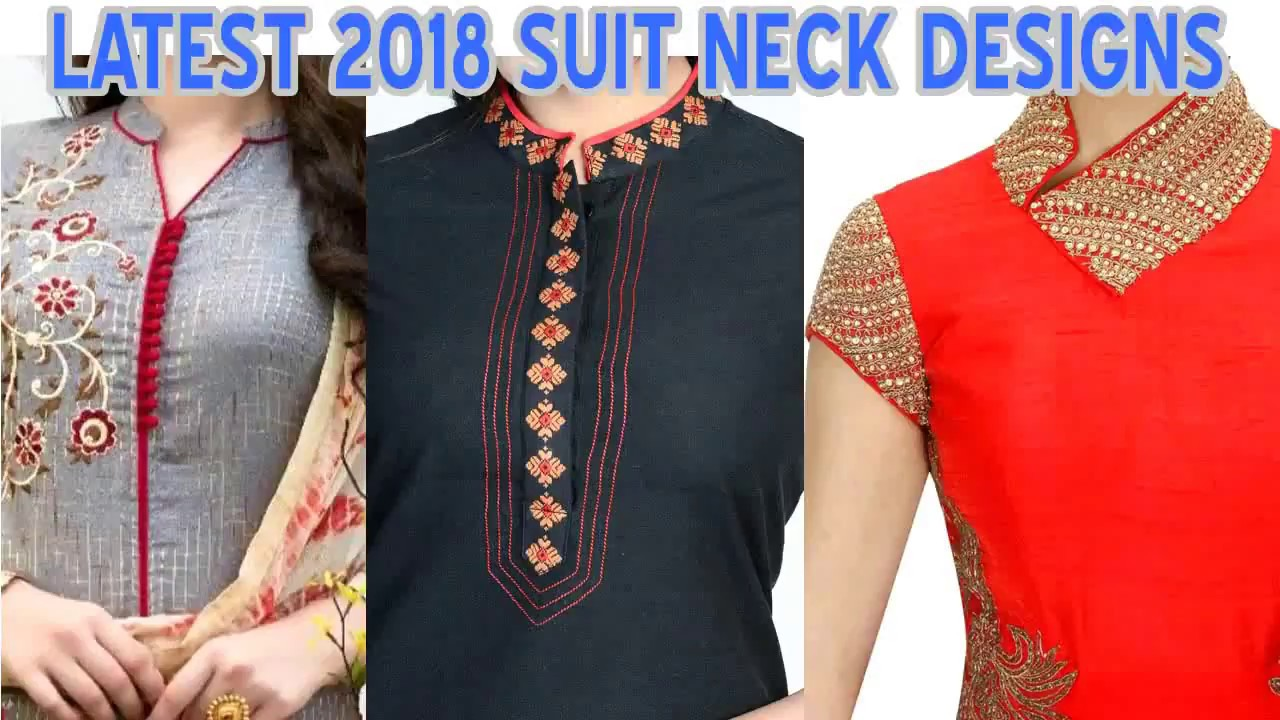 Latest 2018 Women Ladies Suit Neck Designs Youtube