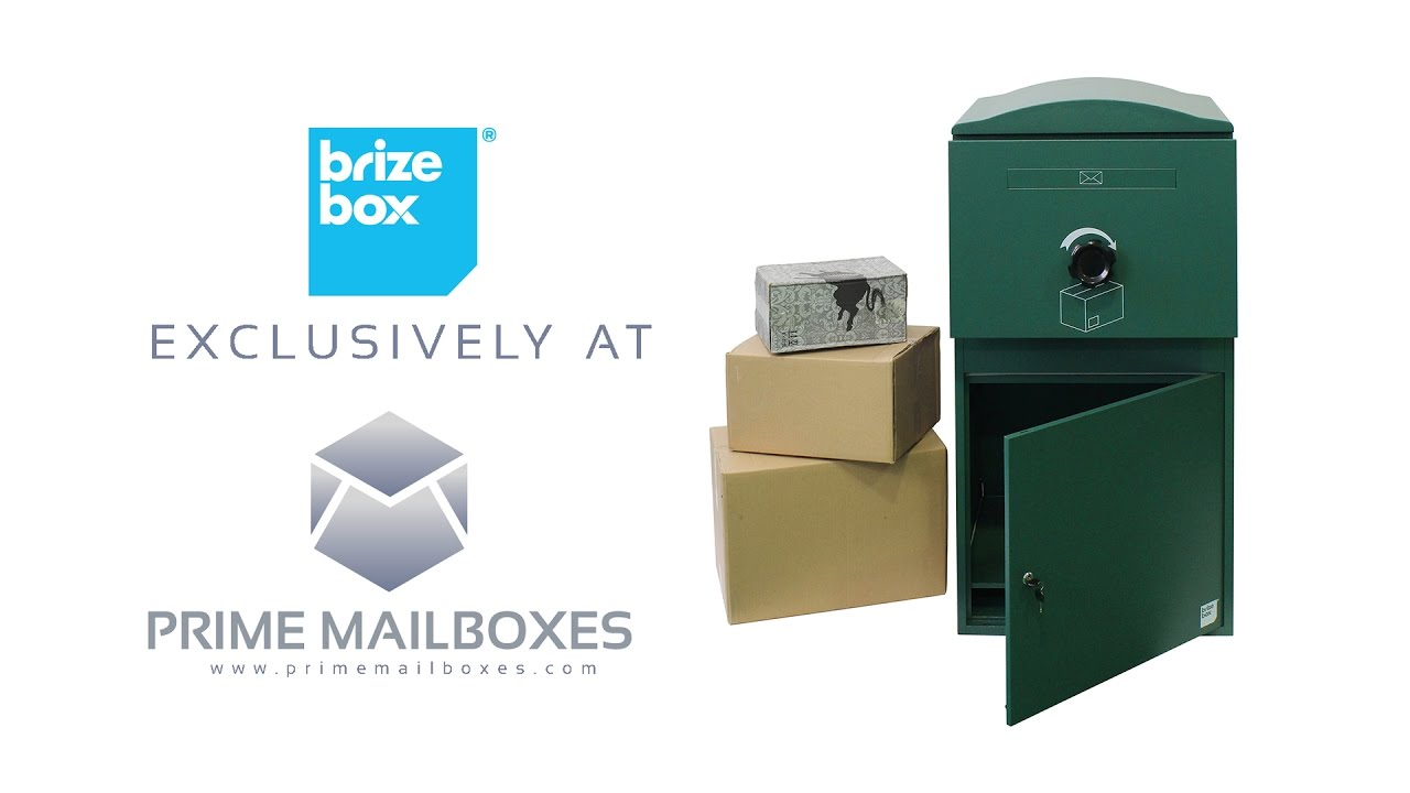 Brizebox Secure Locking Residential Parcel Box Prime Mailboxes