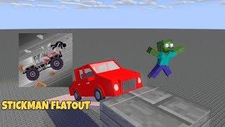 Monster School : STICKMAN FLATOUT CHALLENGE - MINECRAFT ANIMATION