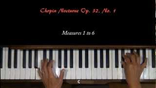 Chopin Nocturne Op. 32, No. 1 Piano Tutorial SLOW