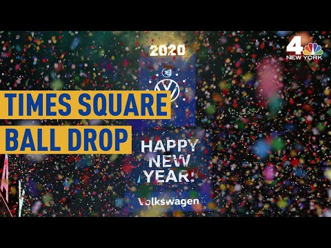 See the 2020 Times Square Ball Drop From Above | NBC New York