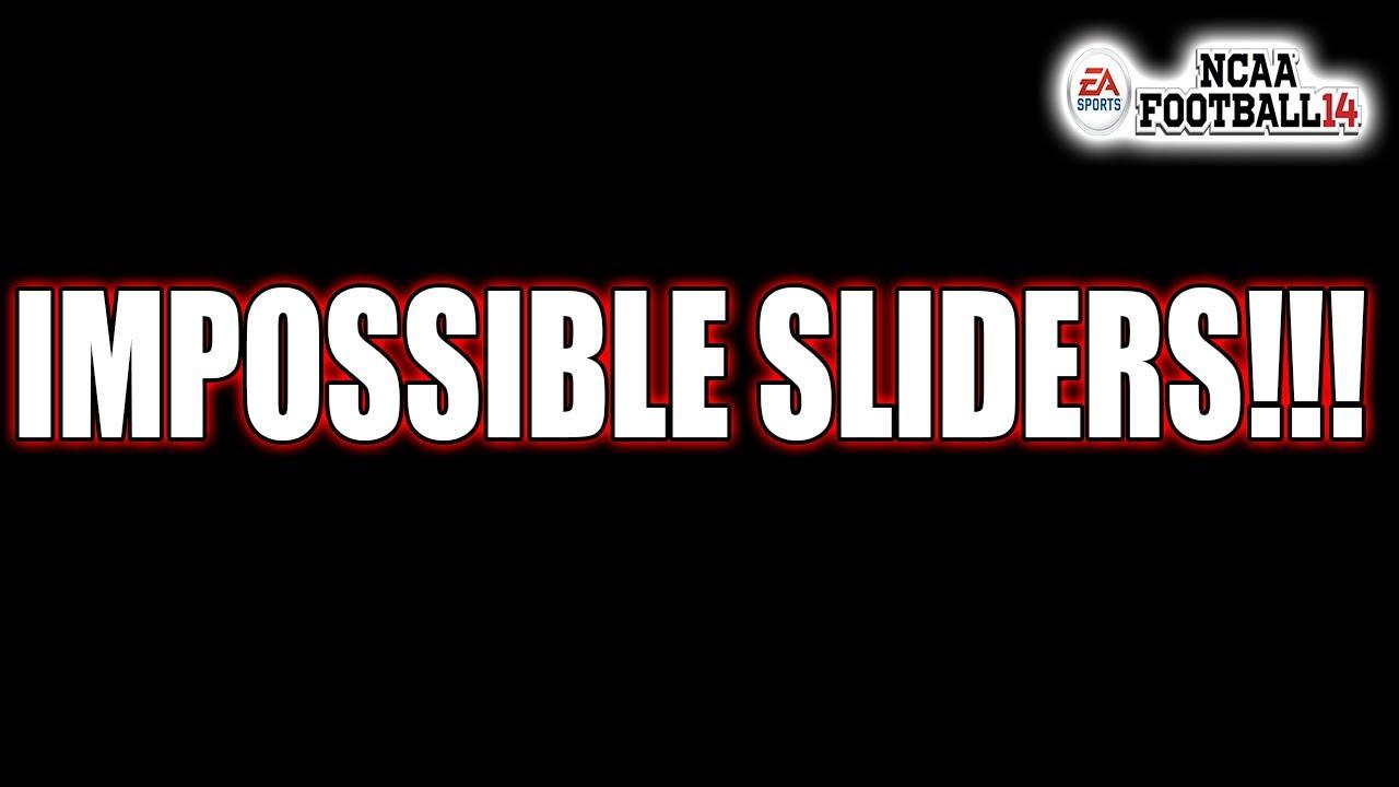 All 0 USER Sliders vs All 100 CPU Sliders! IMPOSSIBLE Slider Challenge!  NCAA FOOTBALL 14