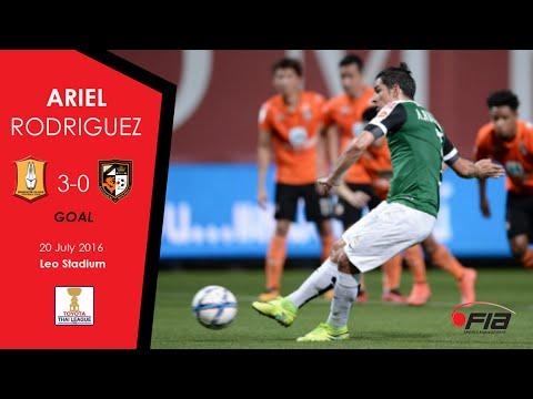 Ariel Rodriguez - Bangkok Glass 3-0 Ratchaburi FC - Thai League 2016