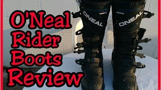 O'Neal Rider Boots Review | Moto6Sanity Moto6 Review