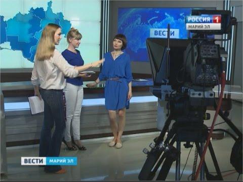 Телеведущая Вера Тарасова познакомилась со своими коллегами из региона - Вести Марий Эл