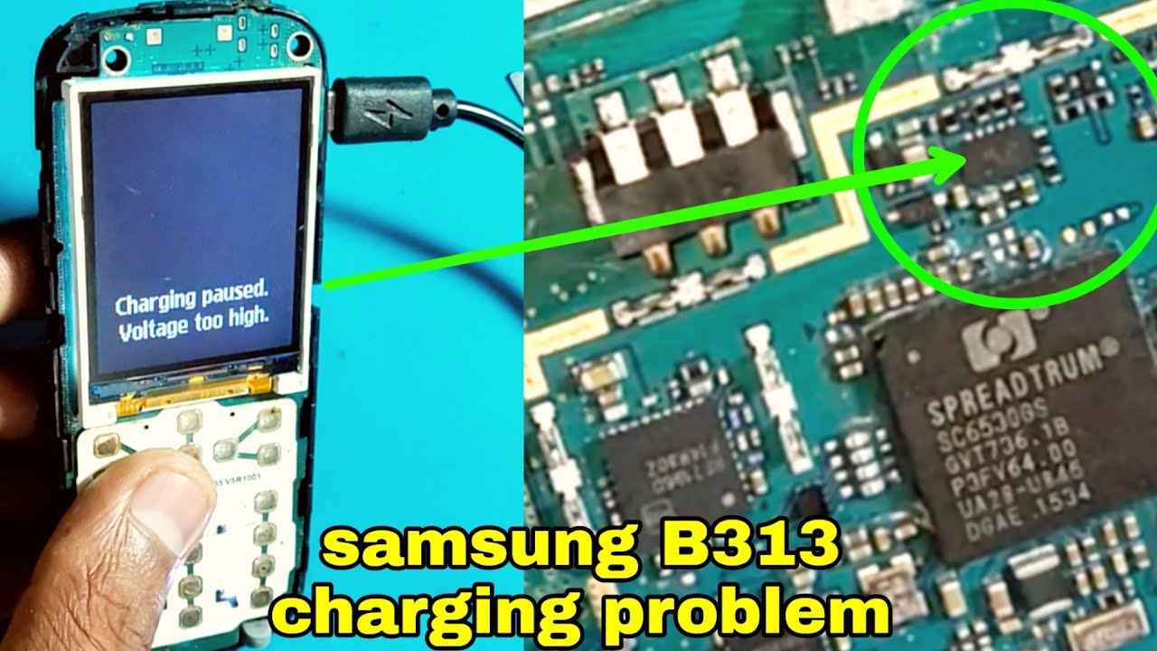 Samsung B313E  charging paused voltage too high problam