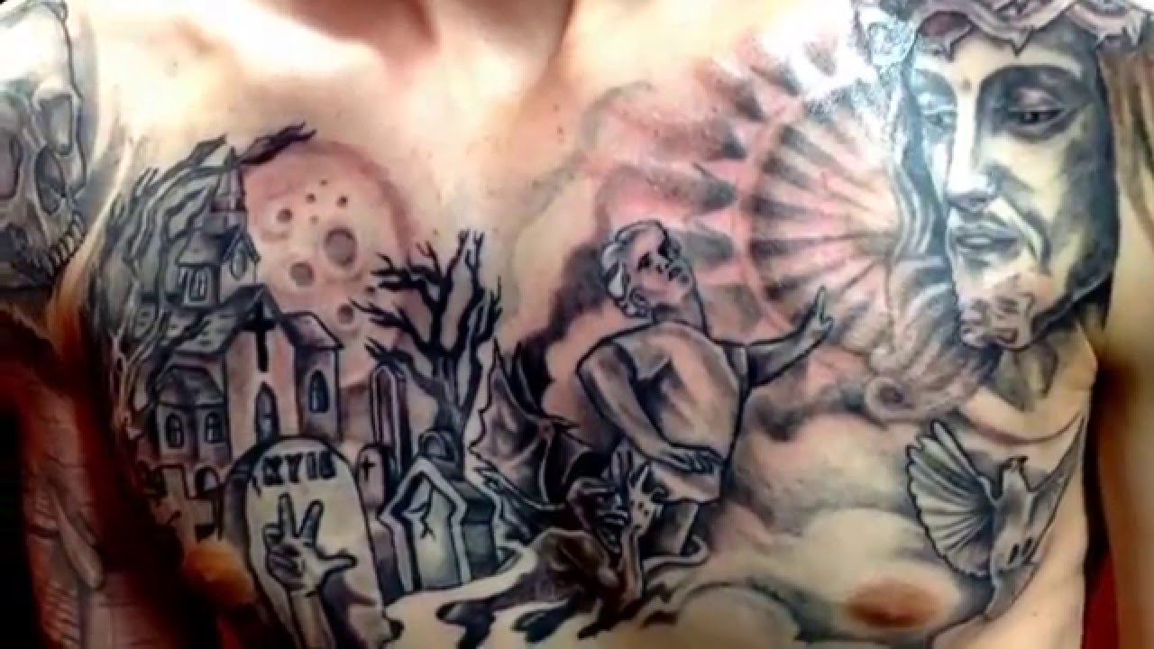 Chest tattoo by jesus crazy cactus tattoo scottsdale az for Tattoo removal scottsdale az