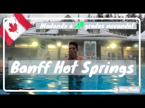 Banff Upper Hot Springs, TERMALES en una MONTAÑA NEVADA a -10 grados - Canadá #10 luisitoviajero