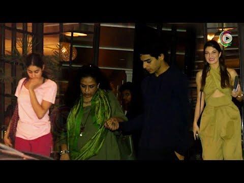 Jacqueline Fernandez, Janhvi Kapoor And Ishaan Khatter SPOTTED At Juhu - HUNGAMA