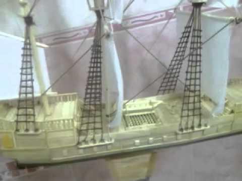 Самодельный корабль из палочек