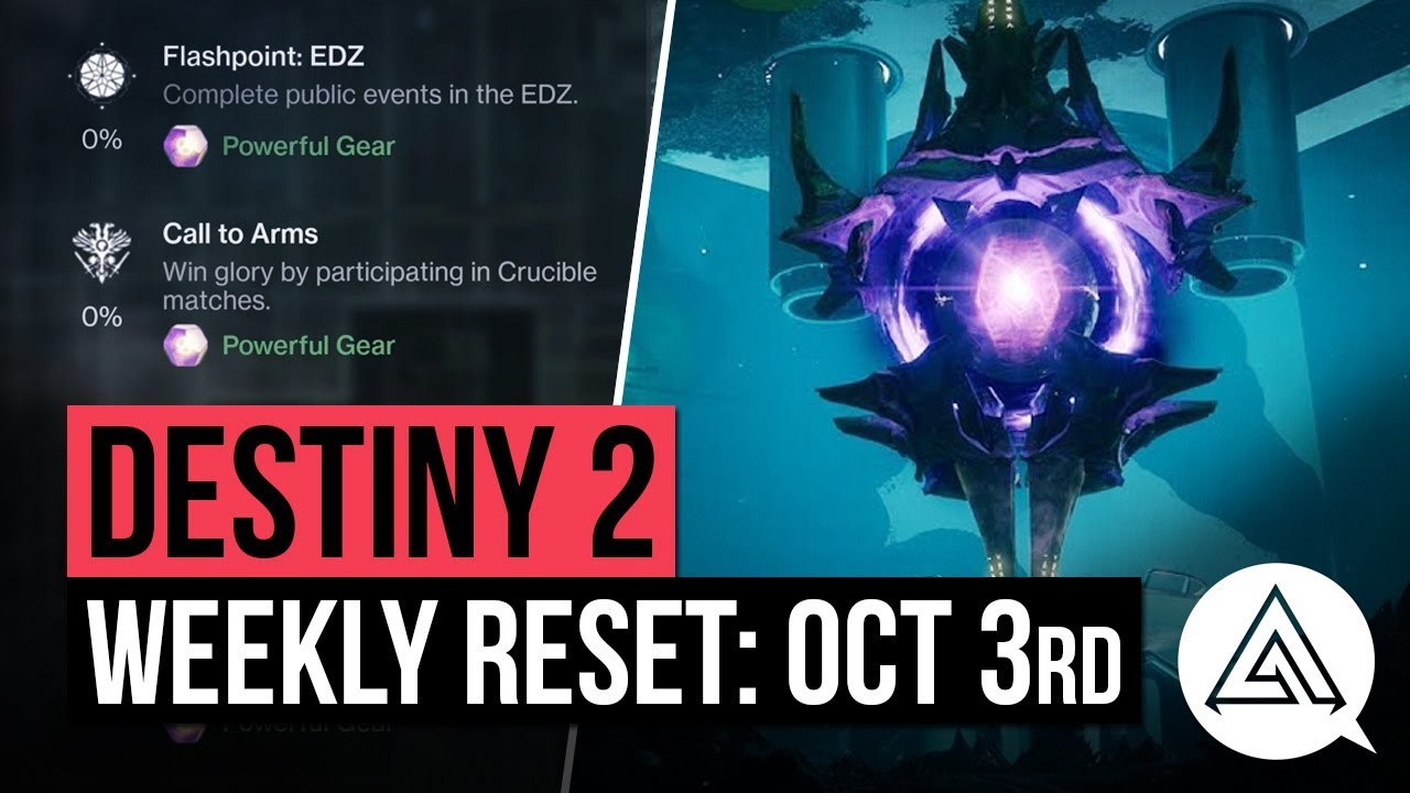 Destiny 2 weekly reset for October 3 – Nightfall, Challenges