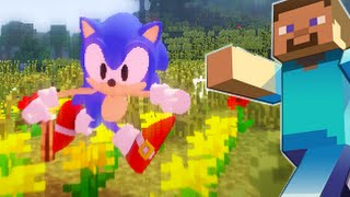 Minecraft mod Classic Sonic Custom Animations Steve release