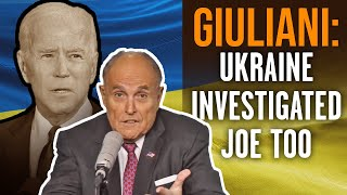 RUDY GIULIANI: Joe, Hunter Biden Crime in Ukraine, China unpunished because of a 'corrupt media'