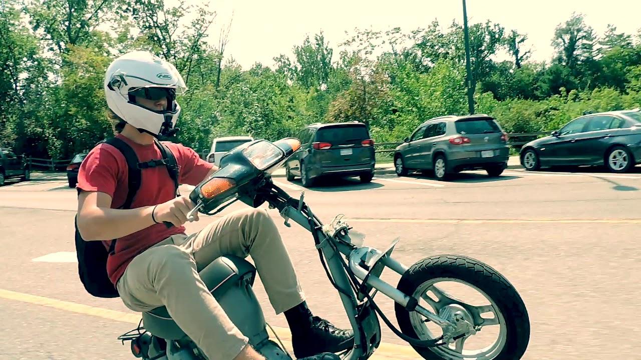 Honda elite wheelies!