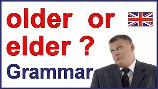 OLDER vs ELDER | English lesson