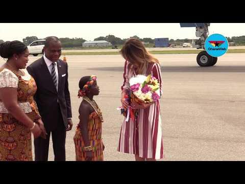 US First Lady Melania Trump arrives in Ghana