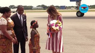 US First Lady Melania Trump arrives in Ghana