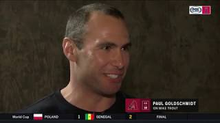 Paul Goldschmidt wants his kid to play baseball like Mike Trout