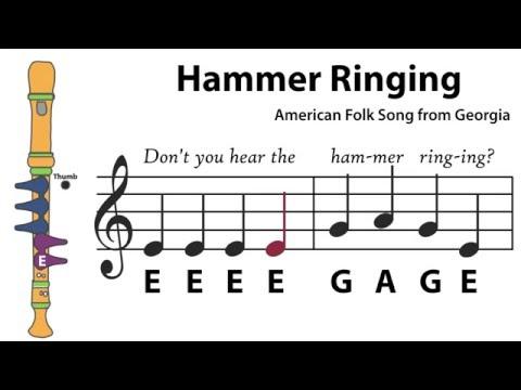 Recorder Song #5: Hammer Ringing