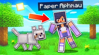 Playing As 2D PAPER In Minecraft!