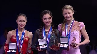 2017 Russian Nationals - Ladies medal award ceremony